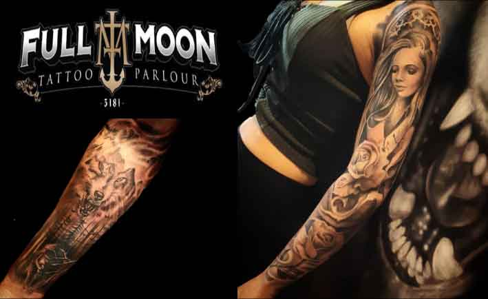 Full Moon Tattoo